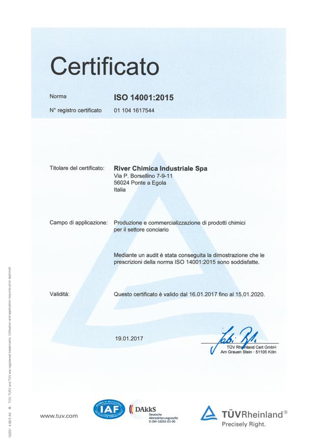 CERTIFICATO ISO14001